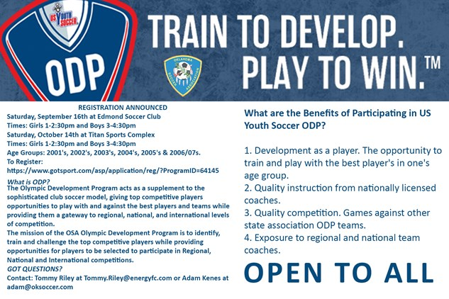 ODP Registration Open