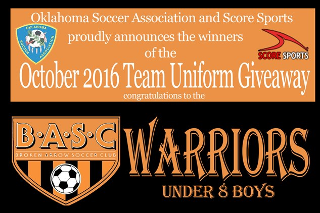 October Score Uniform Winner Announced!