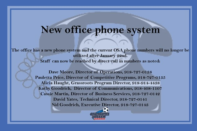 New Office Phone System