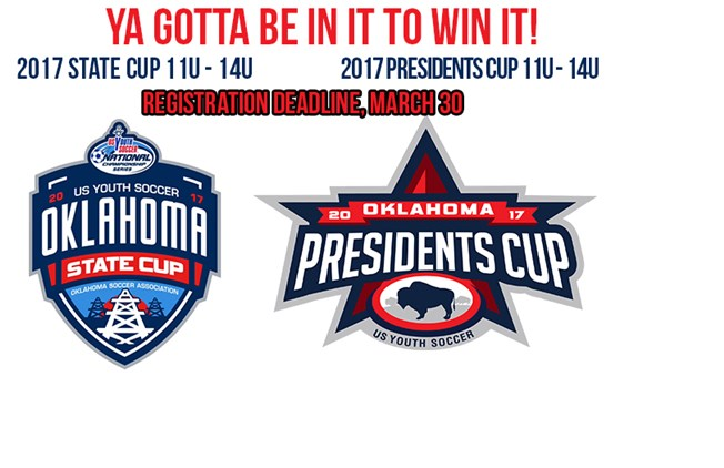 State & Presidents Cup Deadline Soon!