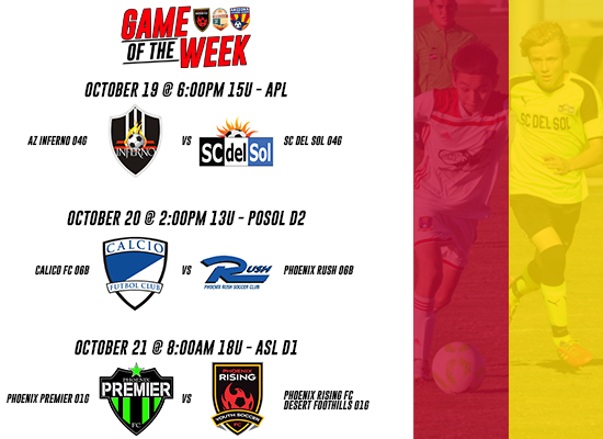 ASA Game of the Week Matches - Week #7