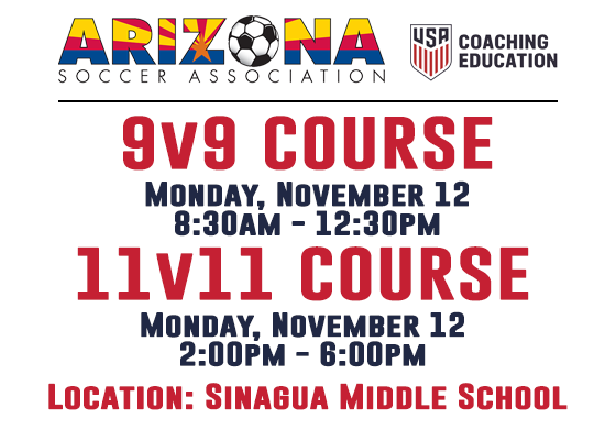 Register: 11v11 & 9v9 US Soccer Coaching Course