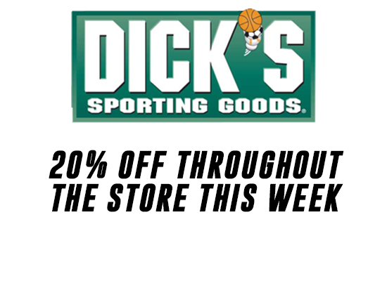 Score 20% OFF at DICK'S Sporting Goods