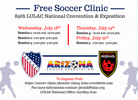 Free Soccer Clinic At LULAC National Convention