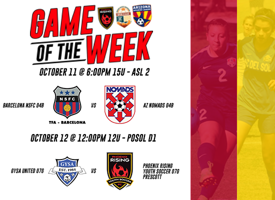 ASA Game of the Week Matches - Week #6
