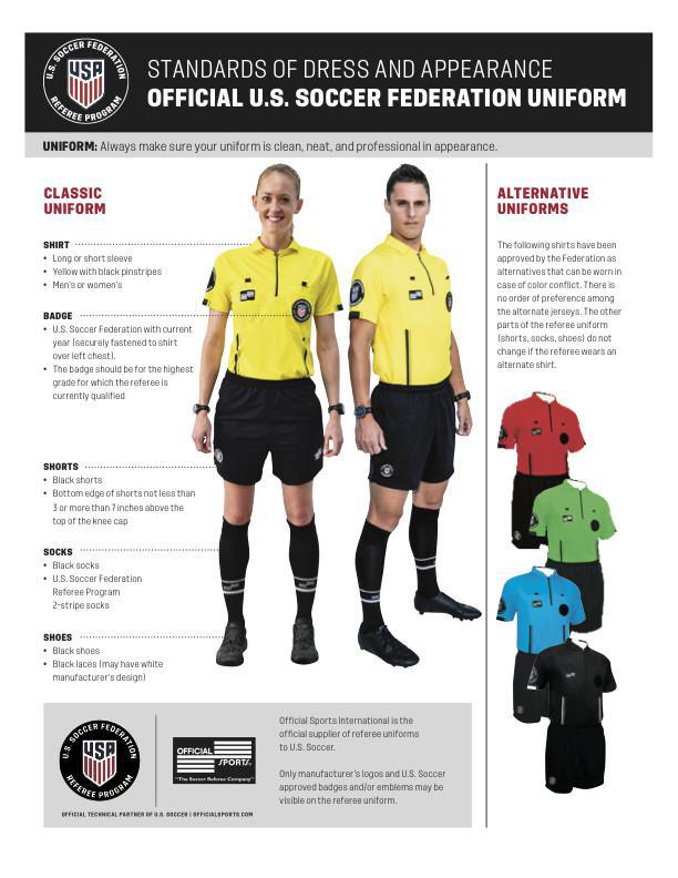 US Soccer Standards of Dress for Referees 2019