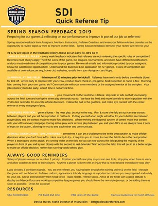 Spring Season 2019 Feedback From The Fields