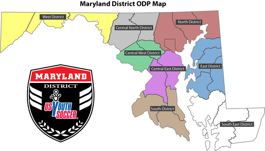 Maryland District ODP Districts PNG