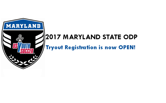 2017 Maryland ODP Registration is now OPEN!