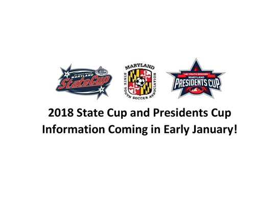 2018 State Cup and Presidents Cup Information