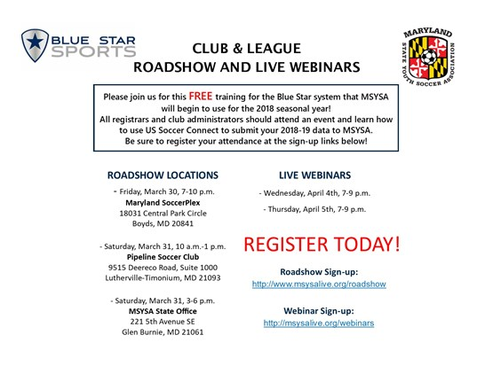 You're Invited: FREE Blue Star Roadshow &...