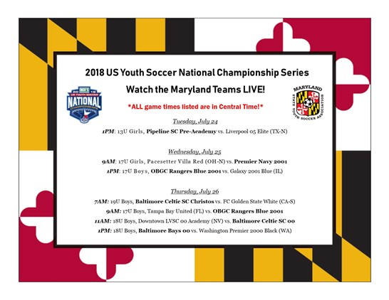 Watch Maryland Teams LIVE at the National...