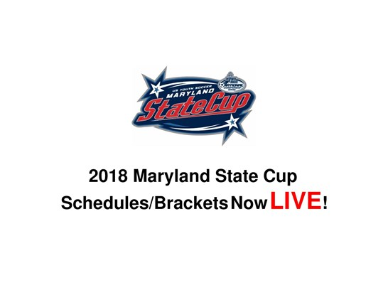 State Cup Schedules & Brackets Now LIVE