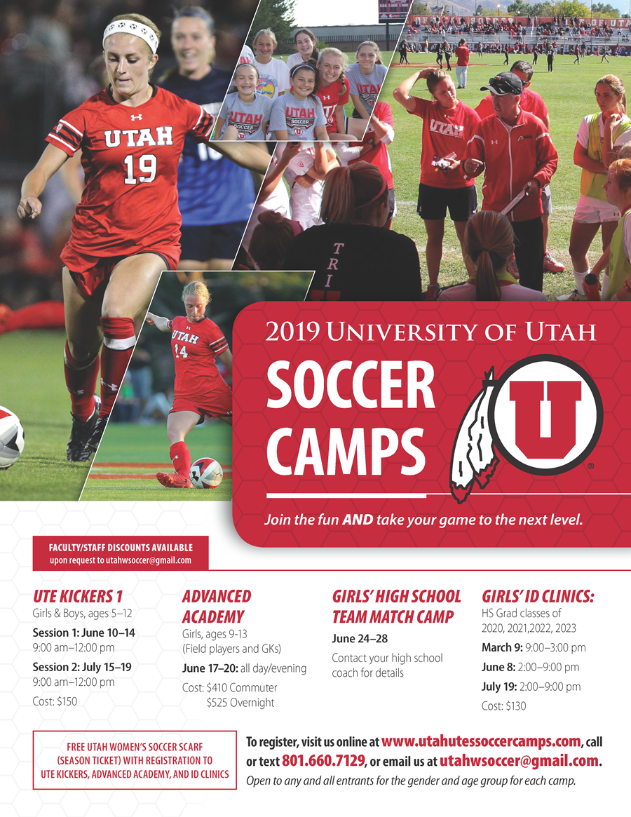 2019 Summer Camps | Utah Youth Soccer