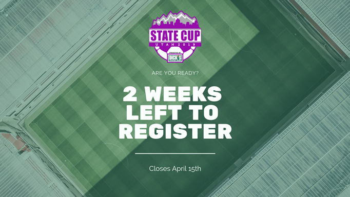 2 weeks left to register for State Cup