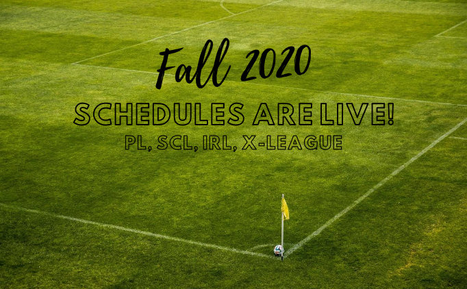 Fall 2020 League Schedules are LIVE