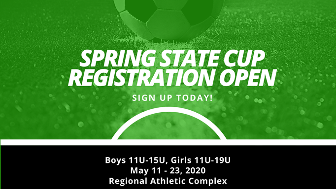 Spring State Cup Registration Open!