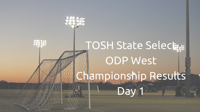 TOSH State Select ODP West Championship...
