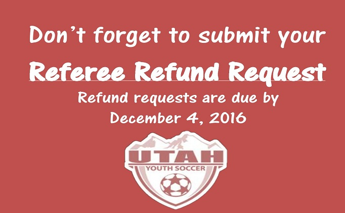 Fall 2016 Referee Refund Requests