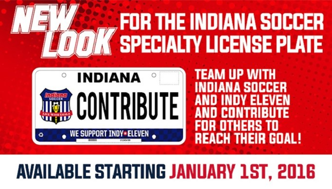 Get Your Indiana Soccer License Plate in Dec...