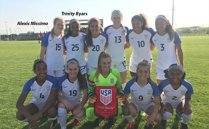 Byars, Missimo star with U-17 USWNT