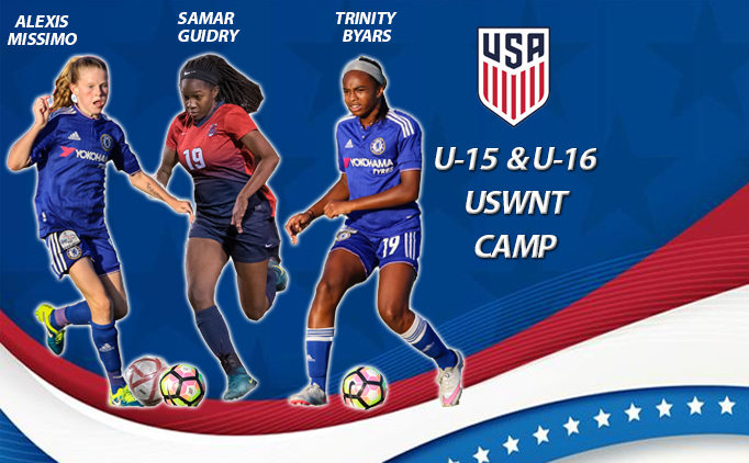 North Texas trio named to USWNT U15 & U16 Camp