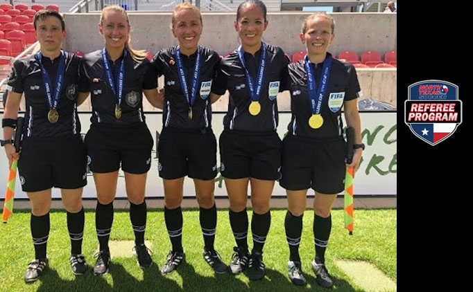 NTX Referee works NWSL Championship.