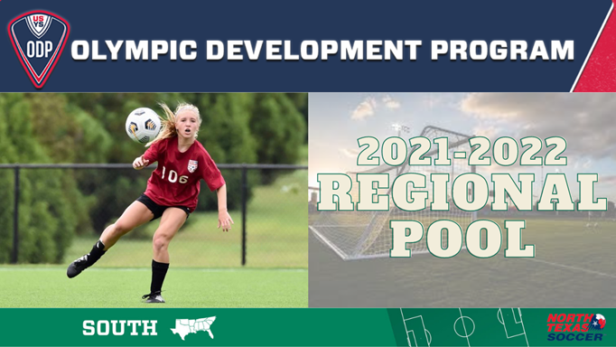North Texas ODP – Regional Pool Players Selected